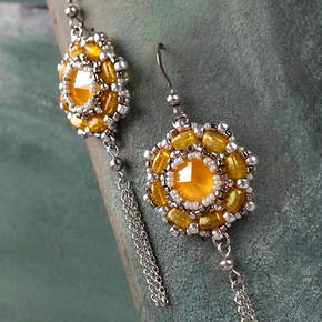 """Buttercup"" earrings"